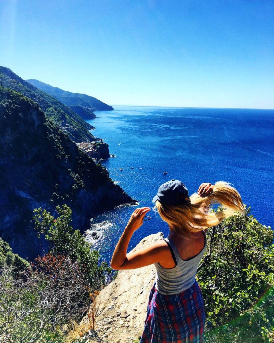 view from one of the hikes in cinque terre