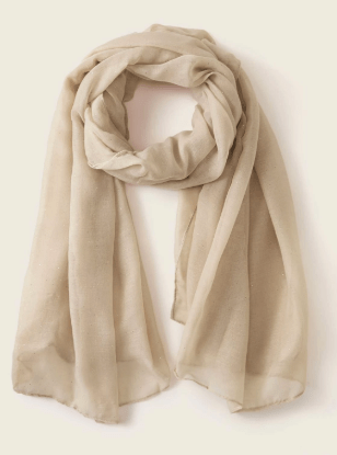 beige scarf to pack for italy