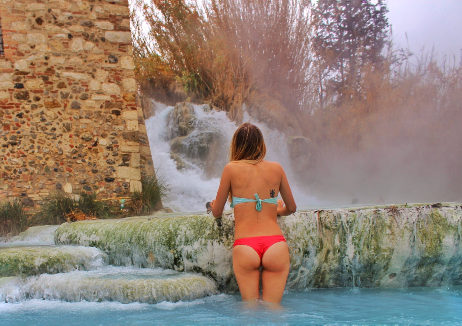 rear view of the sartunia hot springs