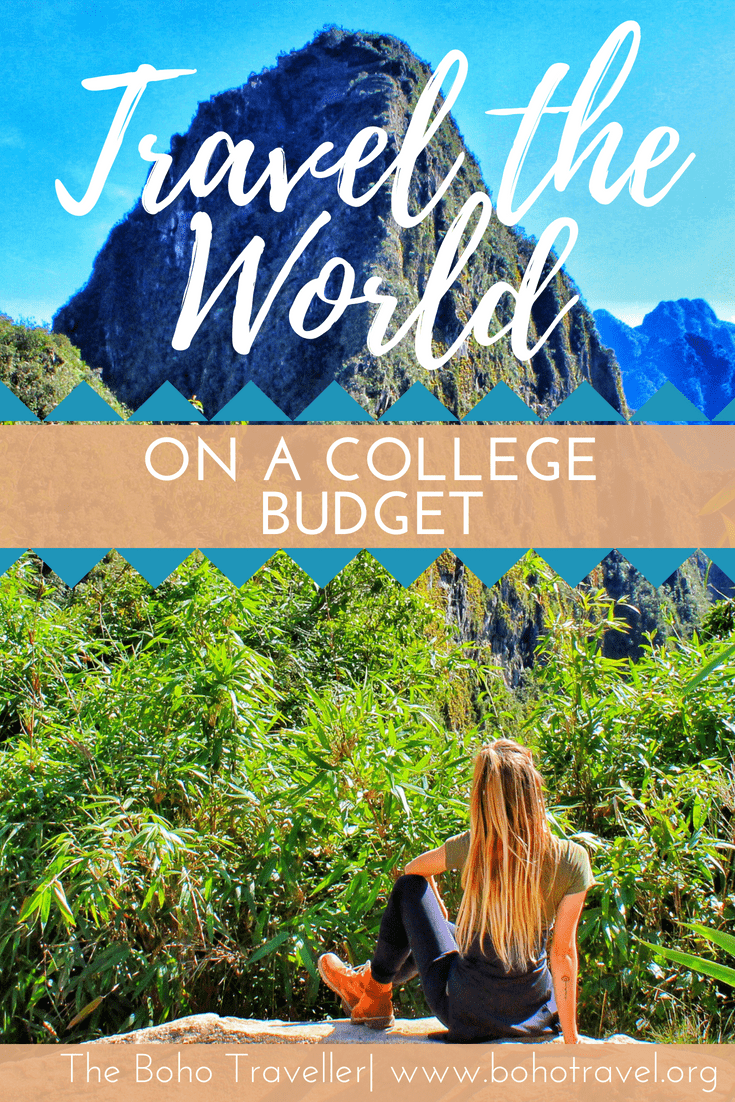 girl looking at mountain how to travel on a college budget
