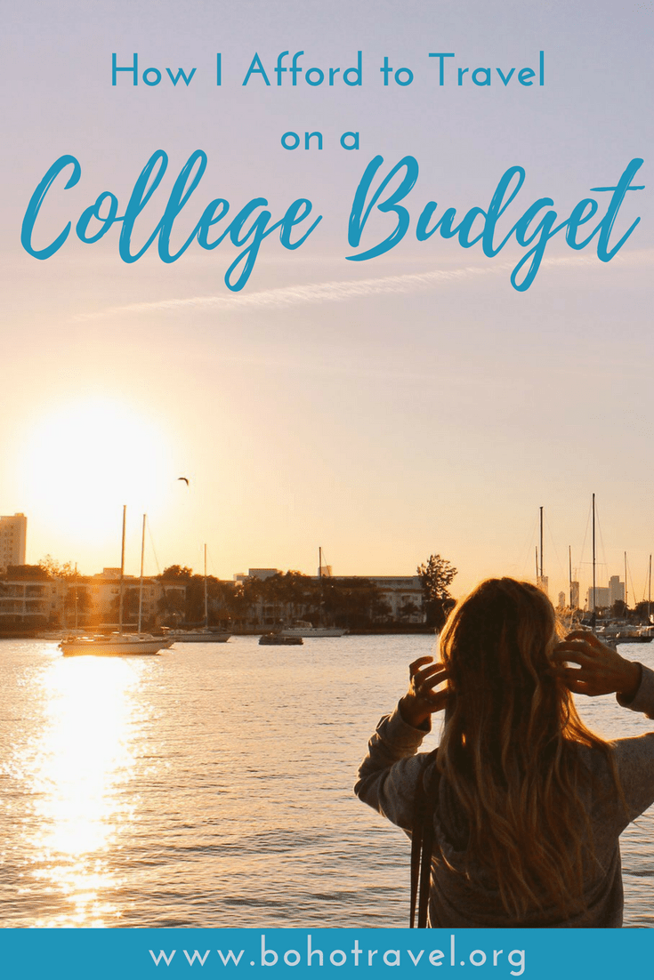 girl sunset travel world on college budget