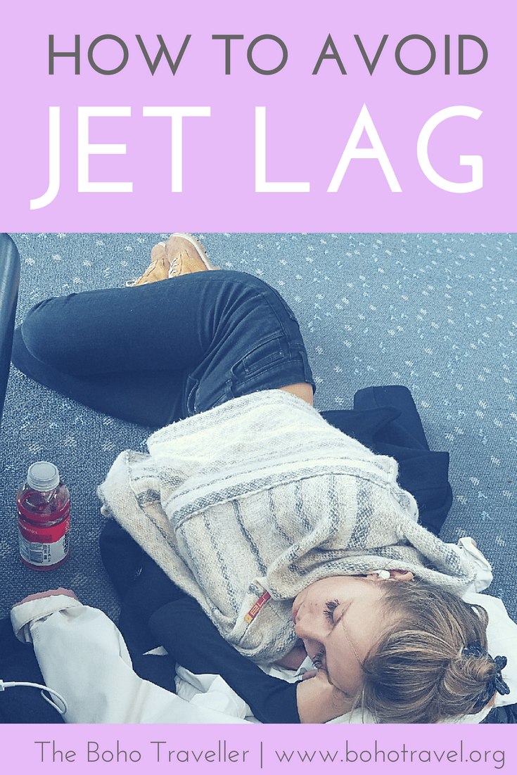 how to avoid jet lag girl sleeping on floor