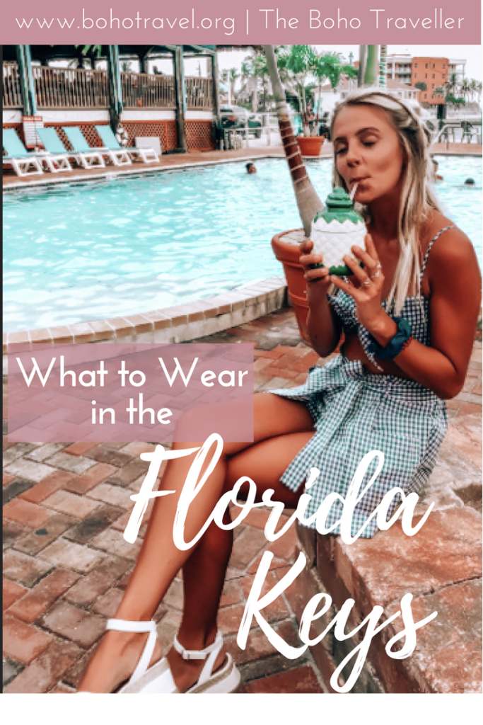 What to Wear in the Florida Keys!This is your ultimate packing guide for the Florida Keys to know what you need to bring to this beautiful little section of the sunshine state!The Florida Keys are full of beautiful blue water and is an amazing place to travel, but the heat can sometimes get you down.Find out what to wear in Key West, and what to wear in Florida #florida #floridakeys #fashion #traveltips #keywest #florida things to do in key west | Packing list for key west | key west travel