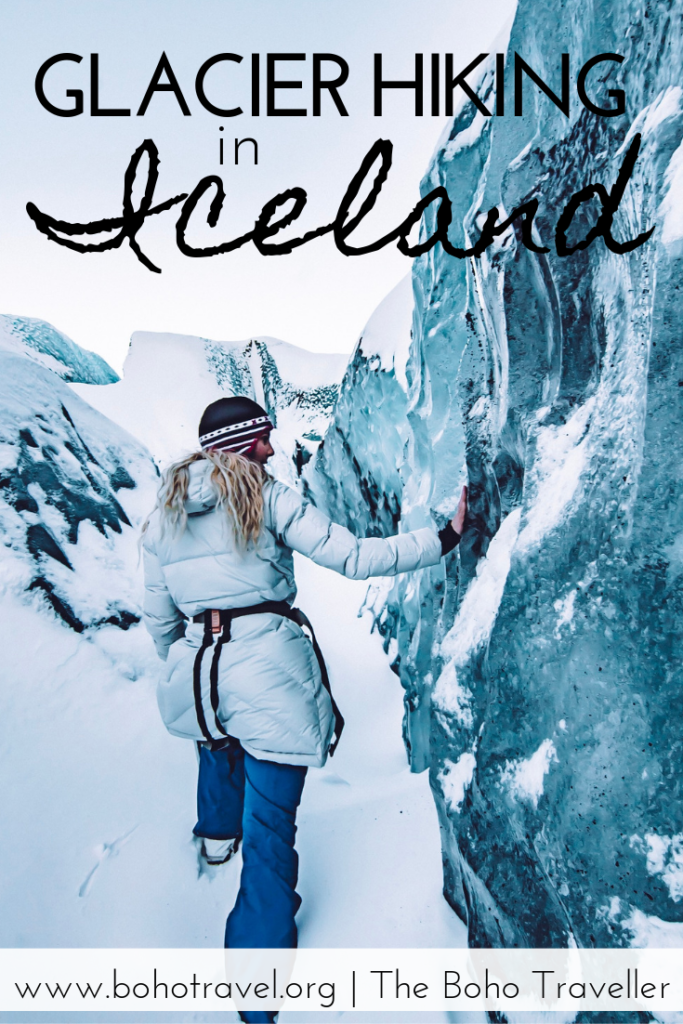 Glacie Hiking in Iceland is one of the ultimate experiences you can get in the wilderness near Reyjavik. #iceland #icelandtravel #traveltips #beautifuldestinations what to do in iceland | where to go in iceland | iceland Itinerary | things to do near reykjavik | one week in iceland