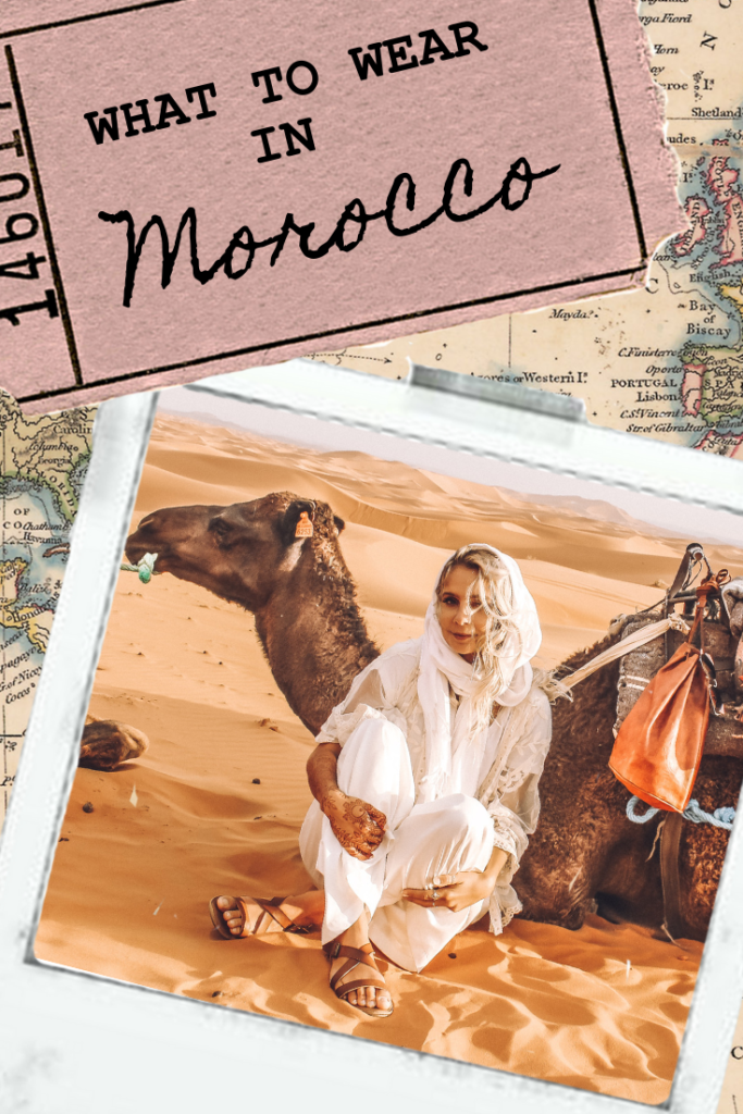 What to Wear in Morocco - morocco is a beautiful country from sahara desert to the atlantic sea, and you need to be fashionable in morocco. Morocco travel advice for fashion is to be cute AND respectful! *** #moroccotravel #morocco #moroccovacation #traveltips #packinglist #beautifuldestinations what to wear in morocco | morocco travel advice | what to do in morocco | things to see in morocco | morocco travel tips | marrakech morocco | sahara desert morocco