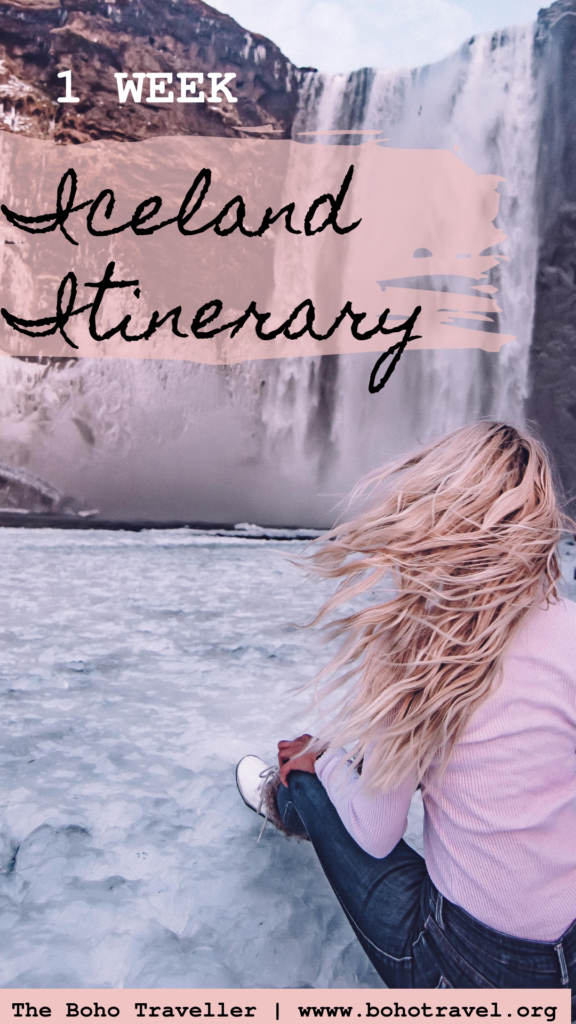 1 week in iceland itinerary - what to do with one week in iceland, roadtrip on the south coast of iceland, the blue lagoon, skogafoss, glacier hiking, all amazing fun things to do on your iceland vacation #travel #traveldestinations #iceland