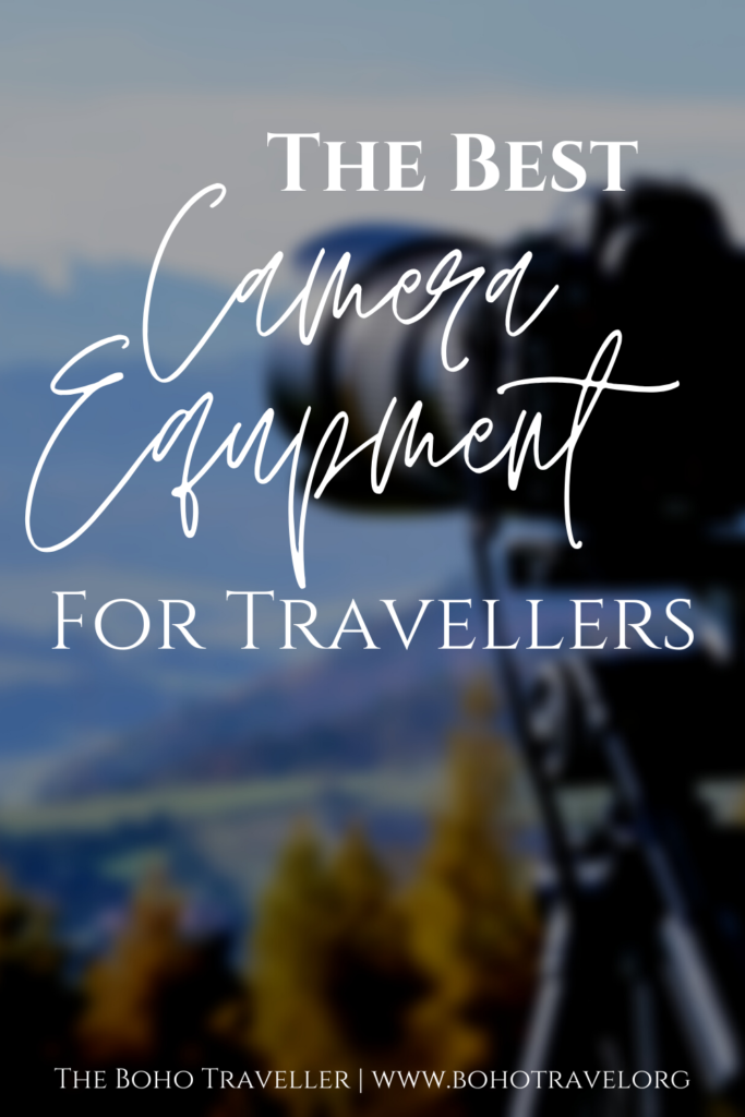 THE BEST CAMERA EQUIPMENT FOR TRAVELERS - What to pack in your camera bag for vacation - this list of camera equipment for travelers will help you get the most out of your travel photography on your next vacation - from camera bags - to the best lenses and drones - this is my camera gear list for travel! #camera #photography #travelphotography #cameragear #cameraequipment #canon Best camera equipment for travelers | best cameras for travel | best camera lenses for travel | best camera bags