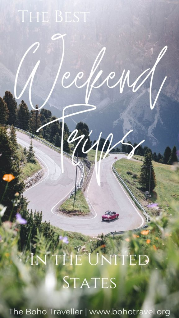 THE BEST LONG WEEKEND TRIPS IN THE UNITED STATES! This list of weekend trips to take in the US will give you the ultimate inspiration on where to travel in the US! From roadtripping Arizona, to exploring the Pacific Northwest - this guide to weekend trip in the US will help you plan the perfect mini getaway! #weekendertravel #traveltips #UStravel #unitedstatestravel #travelblog Where to go in the US for a Holiday Weekend | Weekend Trips in the South | Weekend trips close to home | quick trips