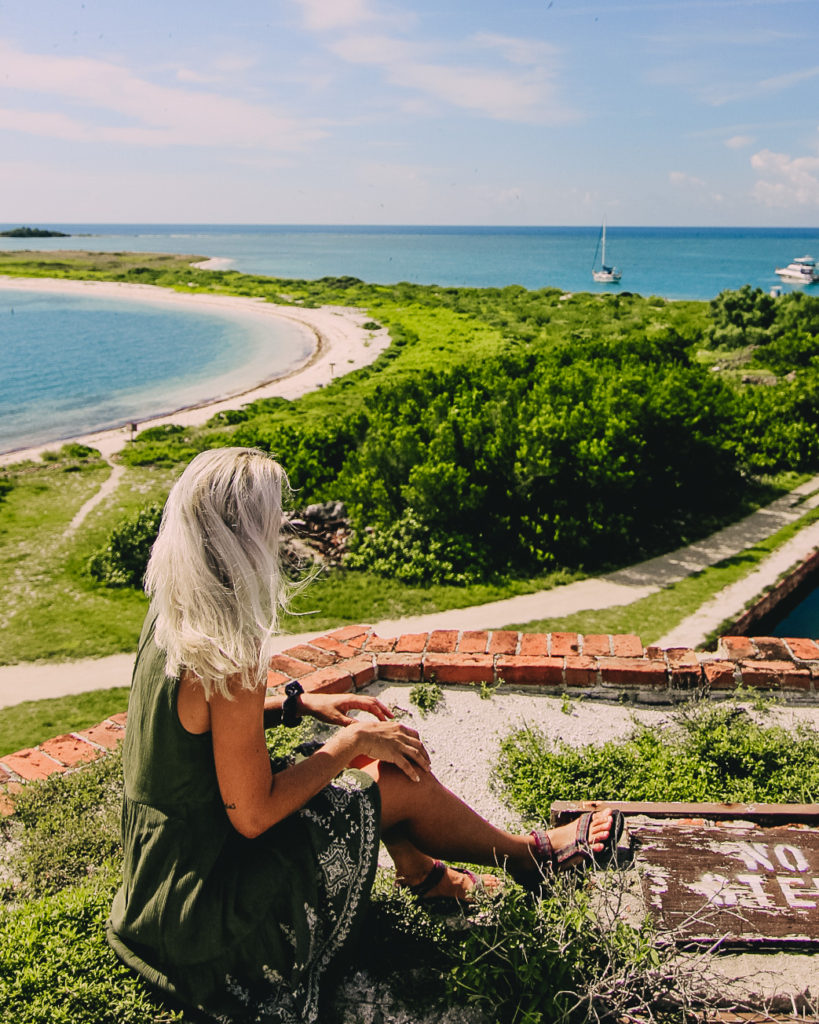 sitting atop fort jefferson in dry tortugas national park